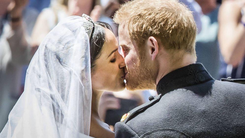 Foto: Harry y Meghan, el día de su boda. (Getty)