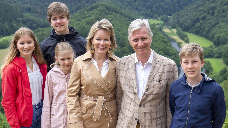 Los reyes, con sus hijos. (EFE)