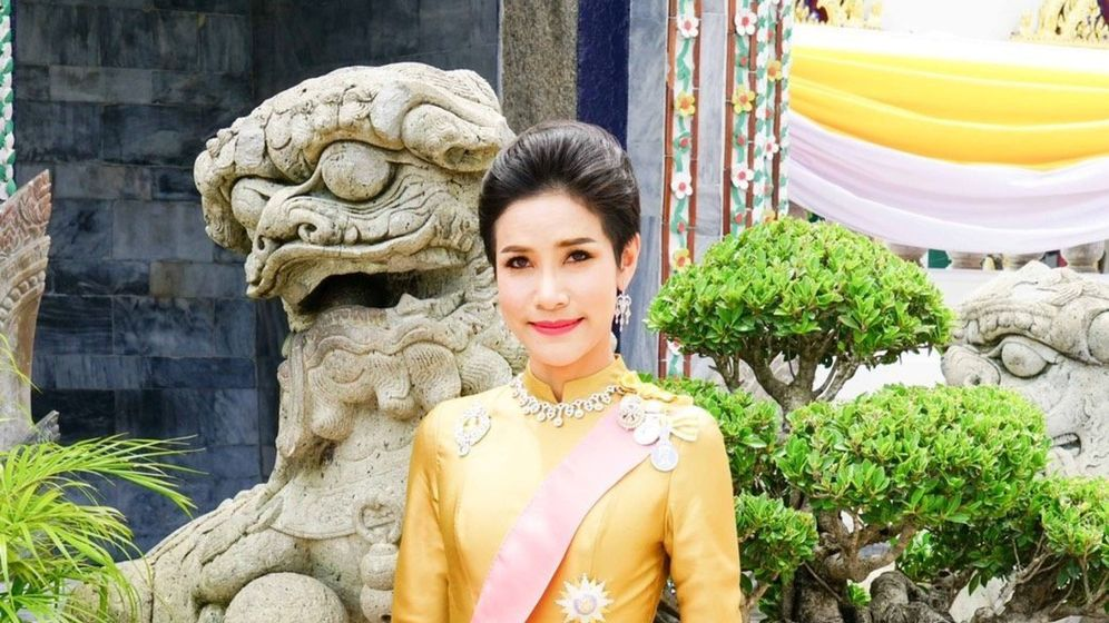 Foto: Sineenat, cuando fue nombrada concubina del rey. (Reuters)