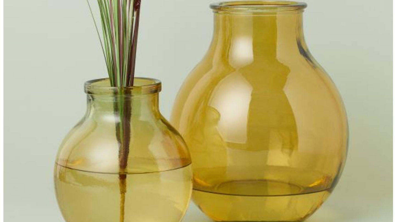 Nuevos diseños de vidrio reciclado de HyM Home. (Cortesía)