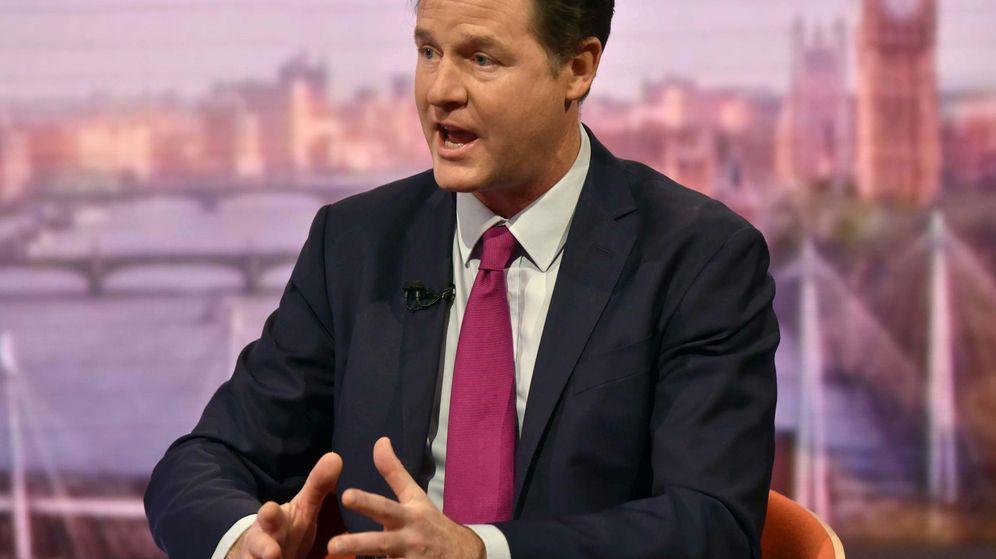 Foto: El ex viceprimer ministro británico, Nick Clegg.