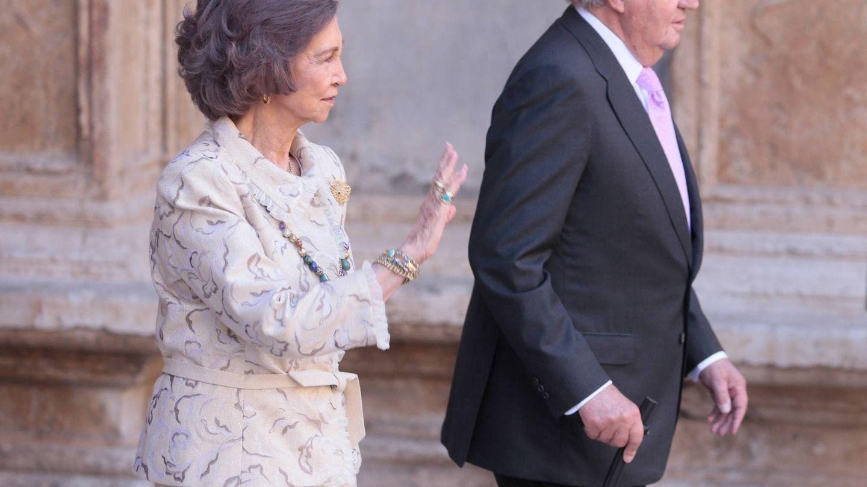 La reina Sofía y el rey Juan Carlos, en Mallorca. (Reuters)