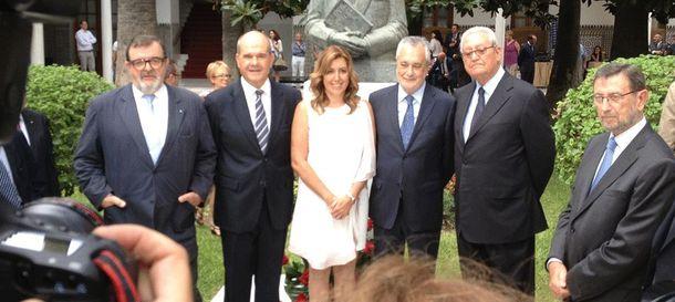 Foto: Los cinco presidentes de la Junta de Andalucía.