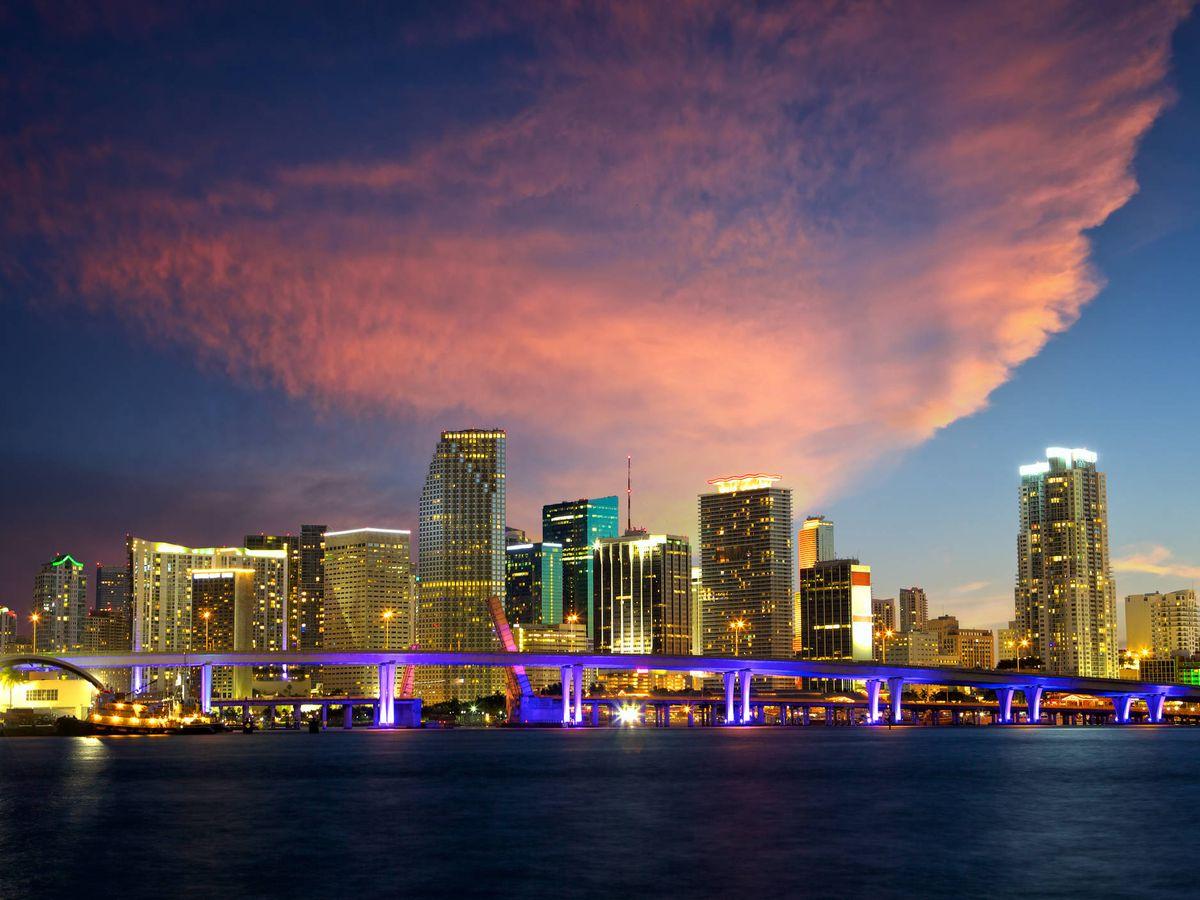 Foto: Una imagen del skyline de Miami.(VA)