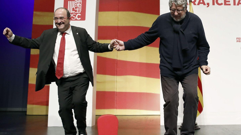 Miquel Iceta, tras un mitin en Cornellá de Llobregat. (EFE)