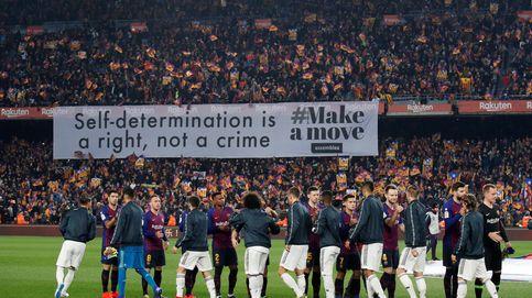 Barcelona - Real Madrid de Copa del Rey: la pancarta independentista del Camp Nou