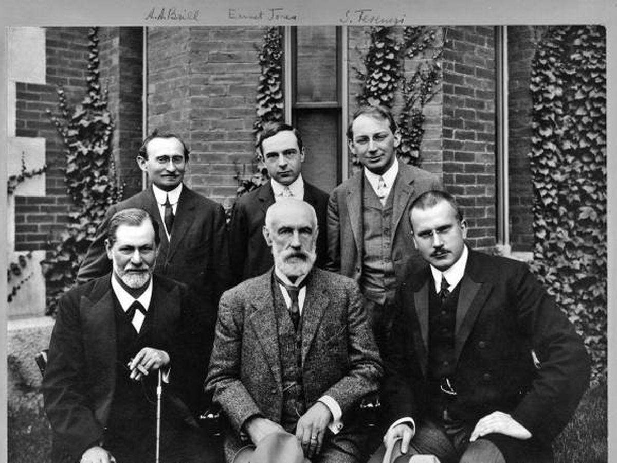 Foto: Freud en una imagen de su viaje a Estados Unidos