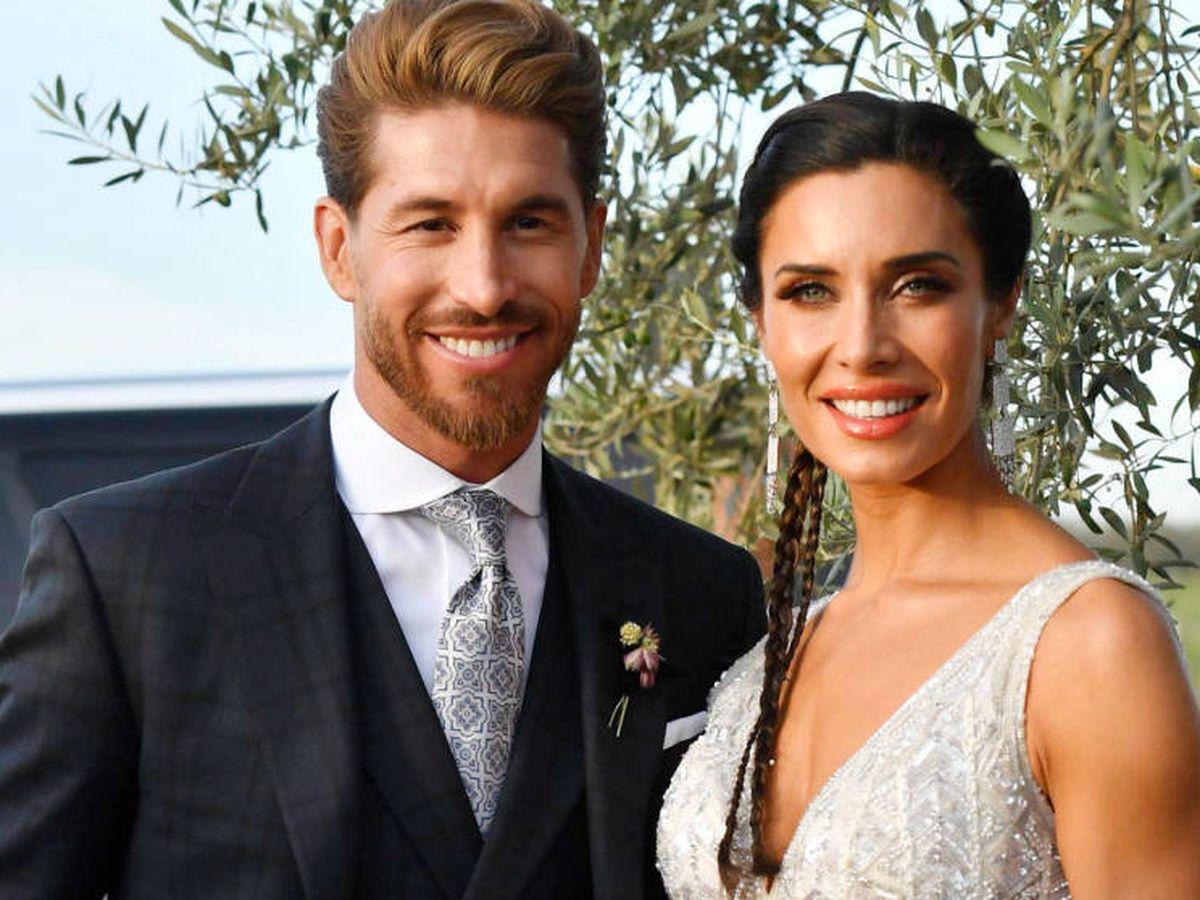 Foto: Sergio Ramos y Pilar Rubio, el día de su boda. (Cordon Press)