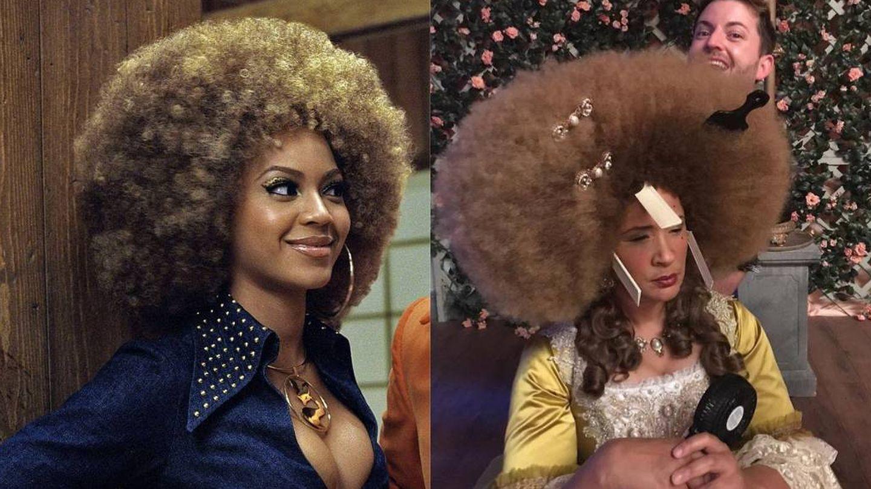 Beyoncé en 'Austin Powers, el miembro de oro' y la reina Charlotte. (Cordon Press / Netflix)