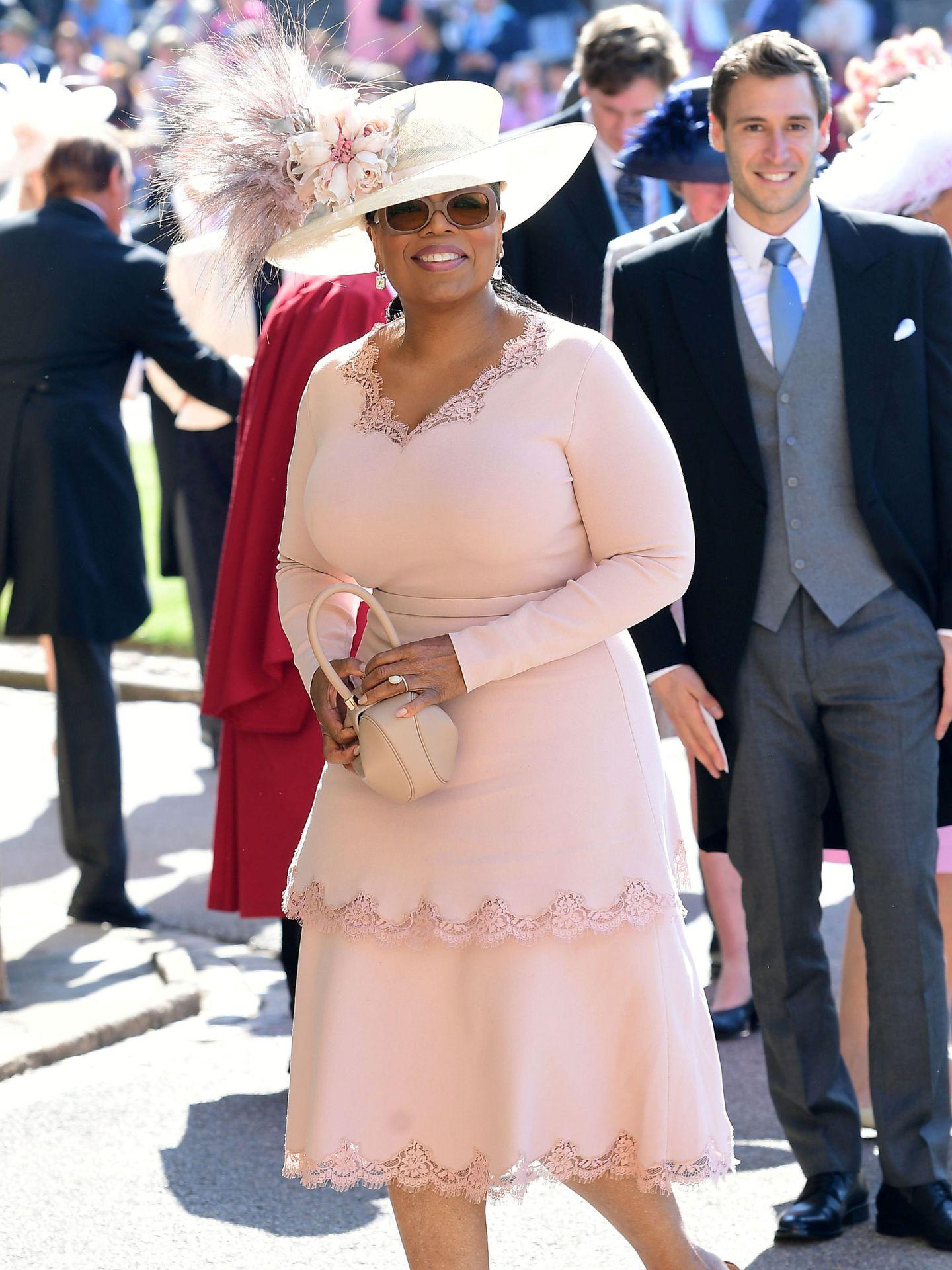 Oprah, en la boda de Harry y Meghan. (Reuters)