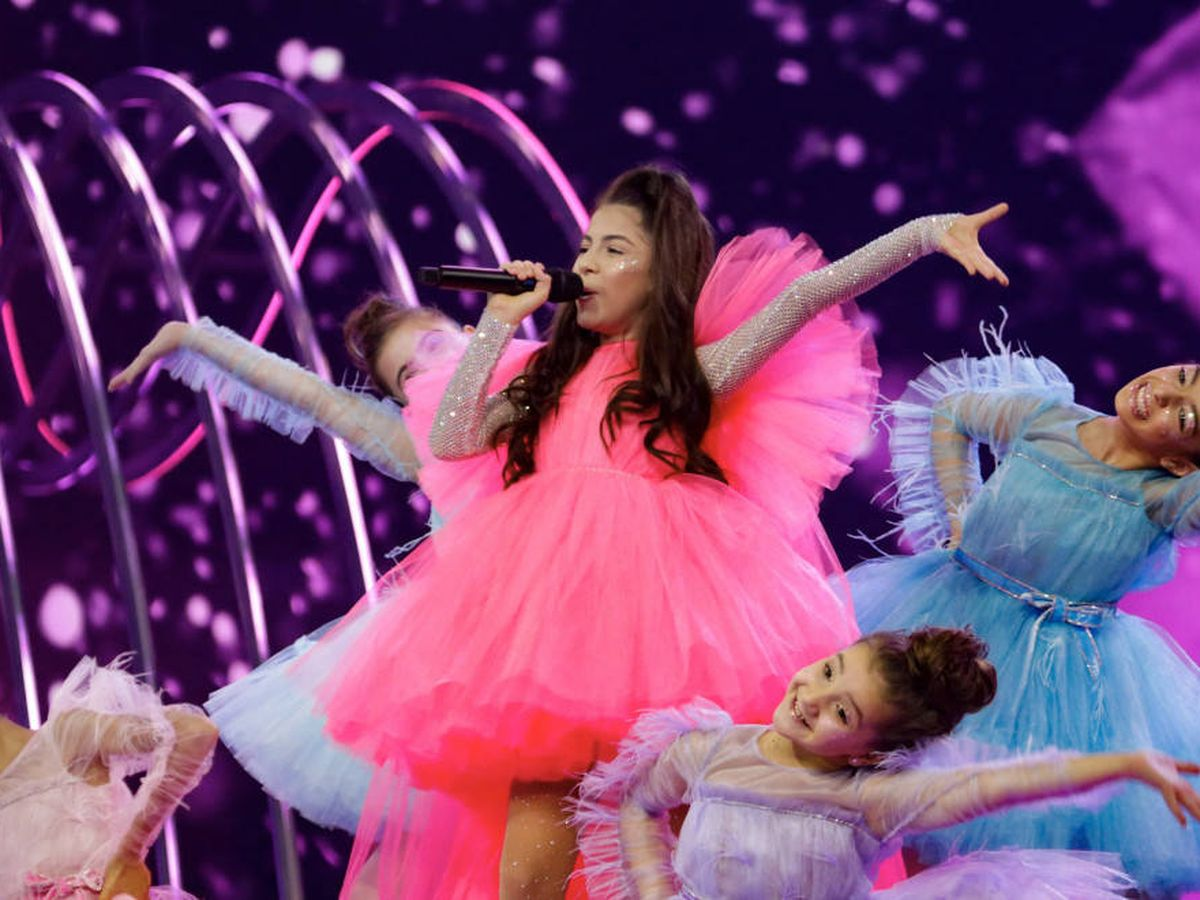 Foto: La representante armena Karina Ignatyan. (Thomas Hanses/ EurovisionJunior.TV)