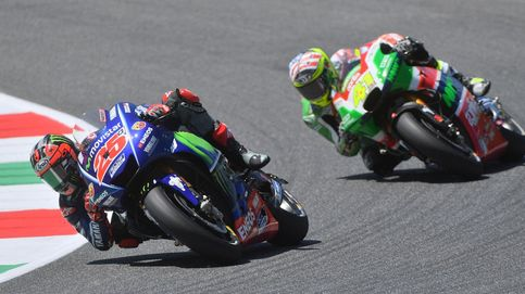 Viñales hace la pole en Italia, donde Márquez no da crédito con las gracias de Rabat