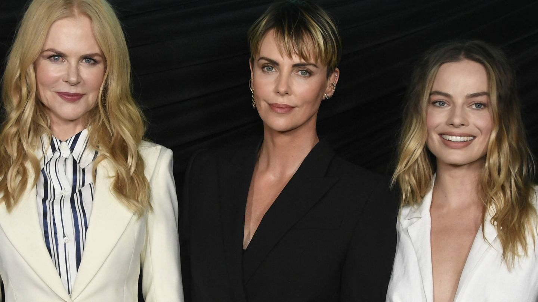 Nicole Kidman, Charlize Theron y Margot Robbie. (Getty)