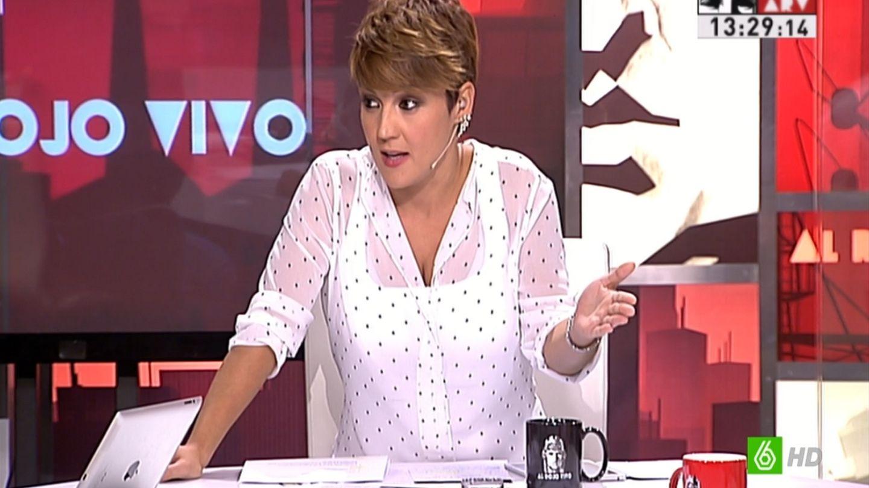 Cristina Pardo durante el programa 'Al rojo vivo'. (La Sexta)