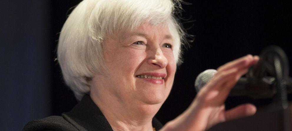 Foto: La presidenta de la Fed, Janet Yellen, durante su discurso en Chicago