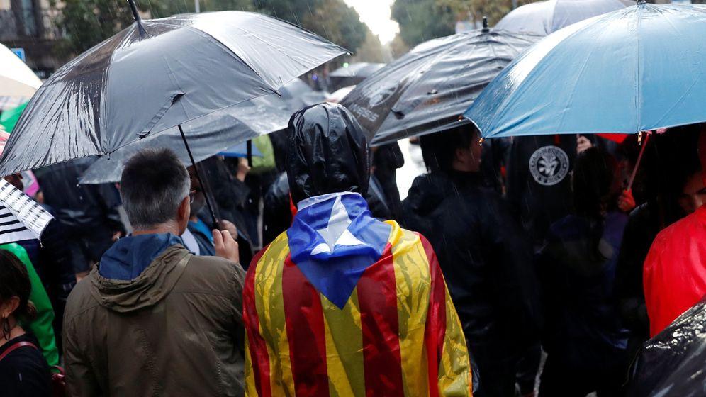 Foto: Movilización en Barcelona a favor de la independencia. (EFE)