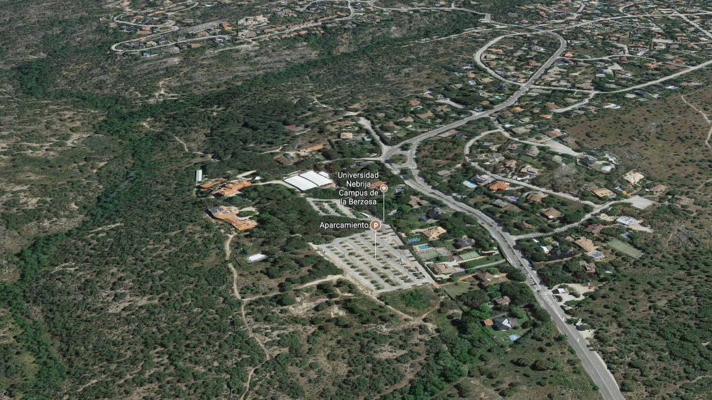 Vista área del campus de la Universidad Antonio de Nebrija en el municipio de Hoyo de Manzanares.