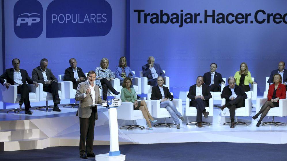 Foto: Rajoy durante su intervención. (Efe)