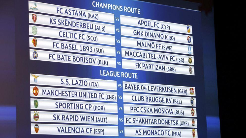 El Valencia tendrá que superar al Mónaco si quiere estar en la Champions