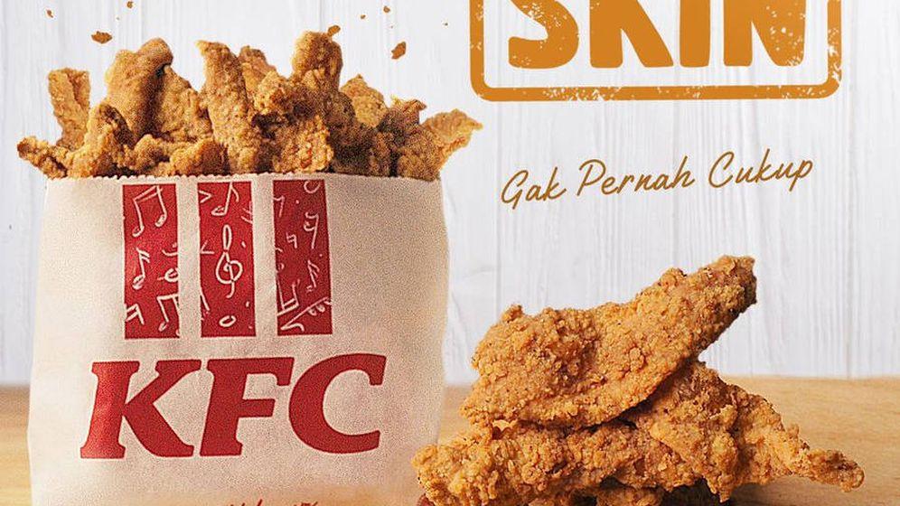 Foto: Así se anuncian las pieles de pollo fritas de KFC en las redes sociales (Foto: KFC)