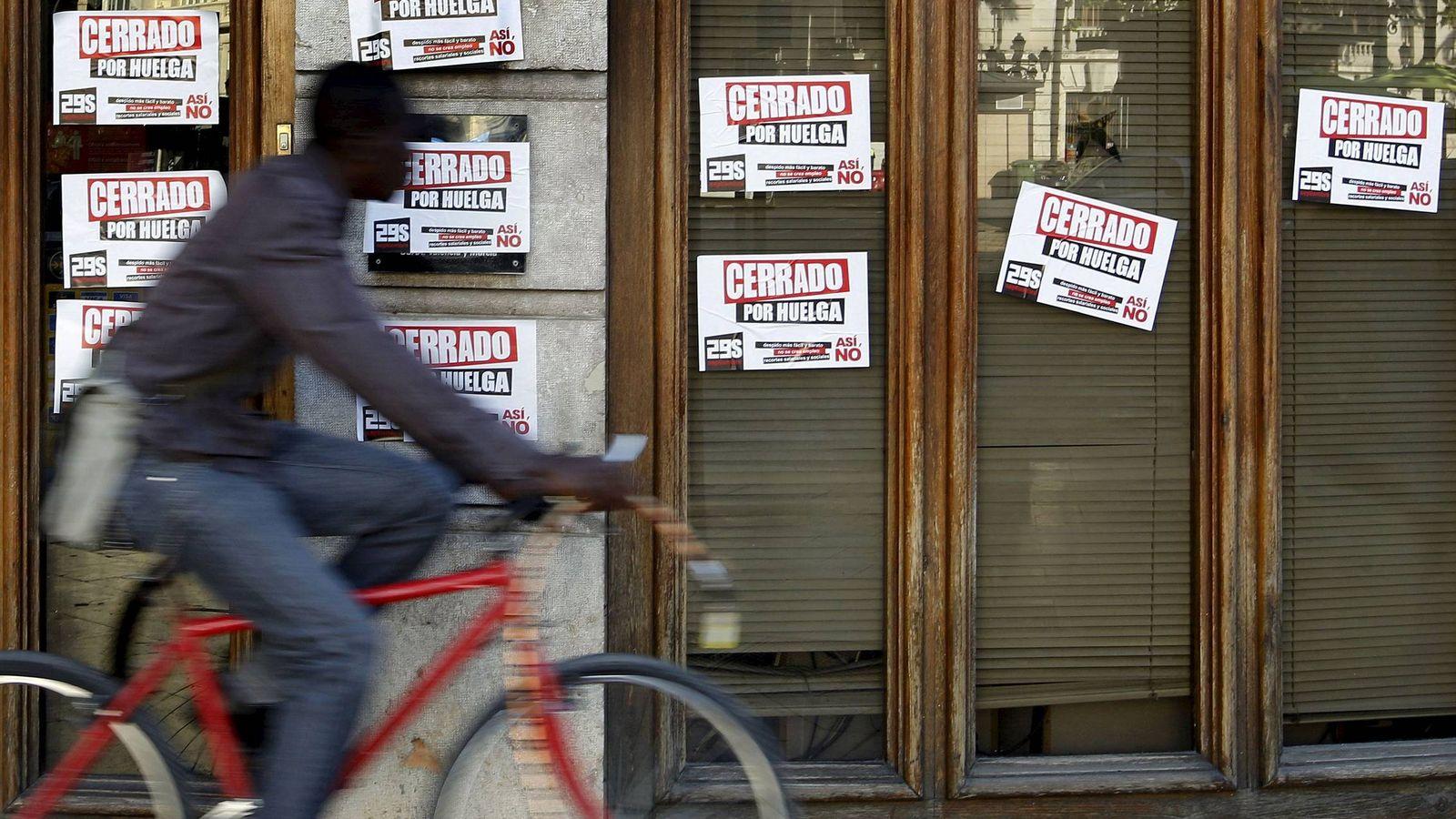 Foto: Imagen de archivo de la huelga general de 2010. (EFE)