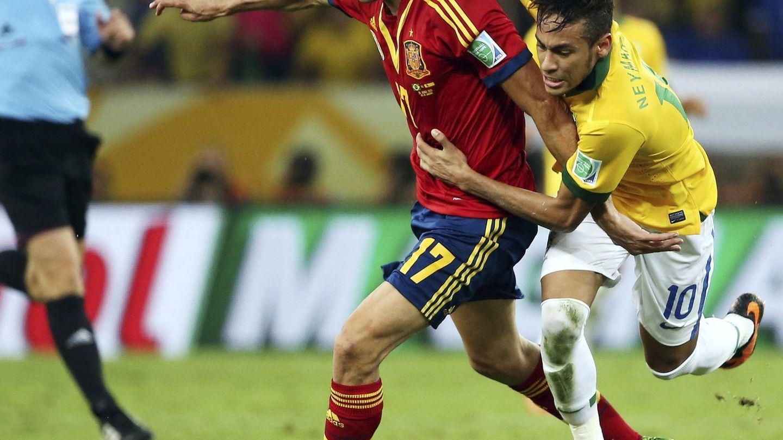 Arbeloa y Neymar, en la ConfeCup