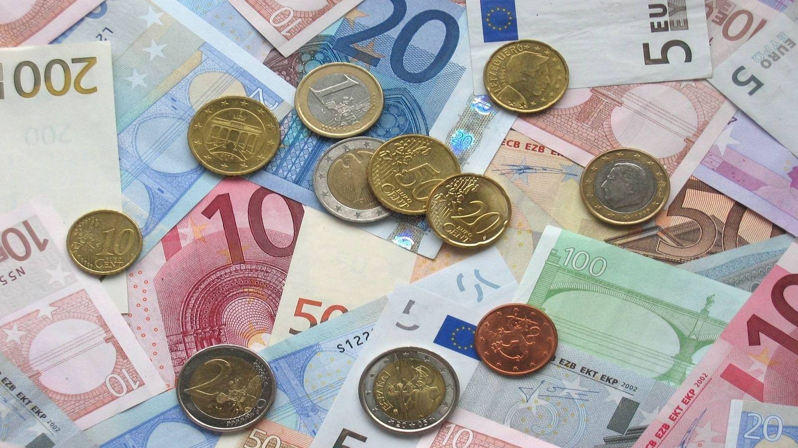 Foto: Billetes y monedas de euros (CC)