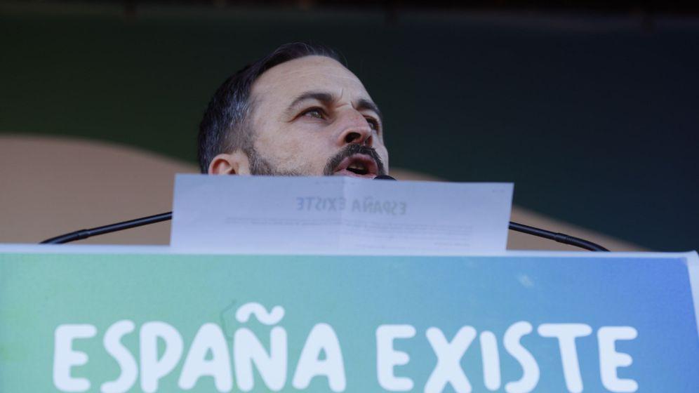 Foto: Santiago Abascal, en un acto de Vox en Madrid. (EFE)