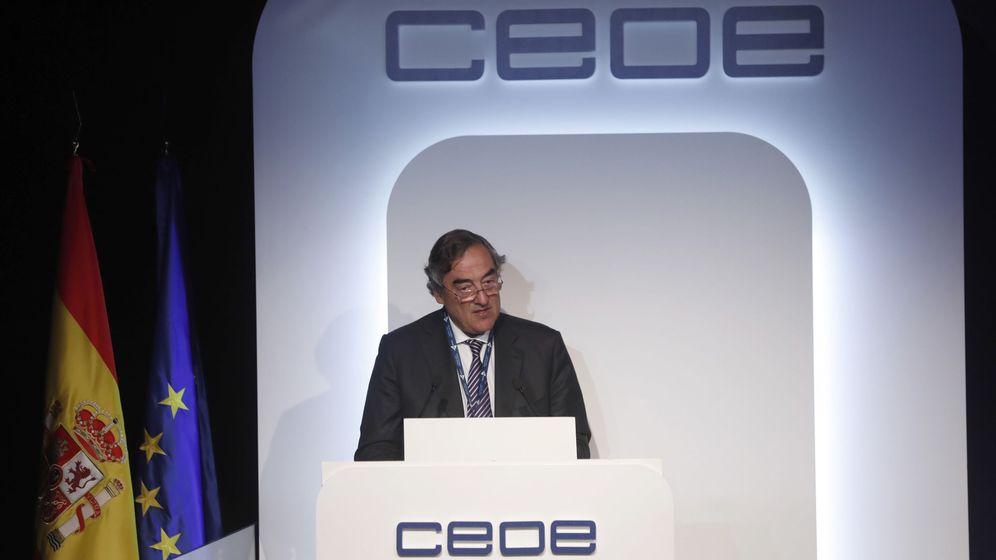 Foto: El presidente de la CEOE, Juan Rosell, en una reciente Asamblea General de la patronal. (EFE)