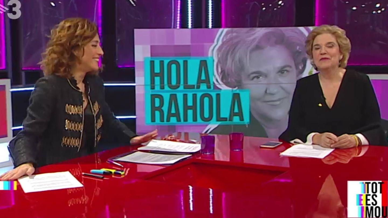 Helena García Melero y Pilar Rahola, en el espacio 'Hola Rahola' de 'Tot es mou'. (TV3).