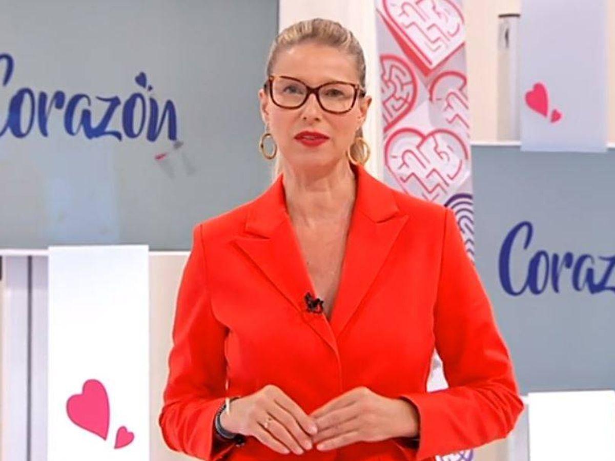 Foto: Anne Igartiburu, presentadora de 'Corazón'. (RTVE)