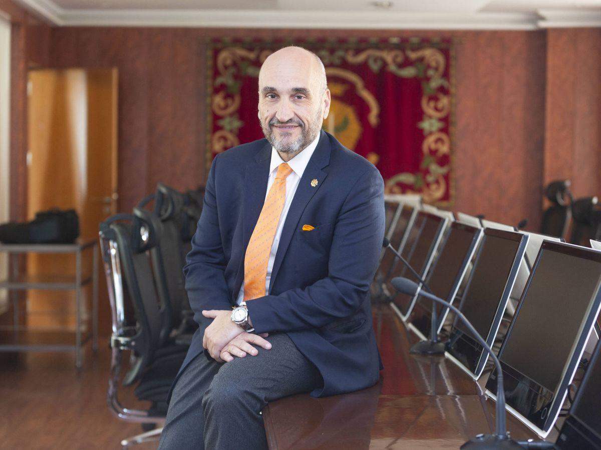 Foto: Fernando Santiago, presidente del Consejo General de Colegios de Gestores Administrativos. (Alberto Martín Escudero)