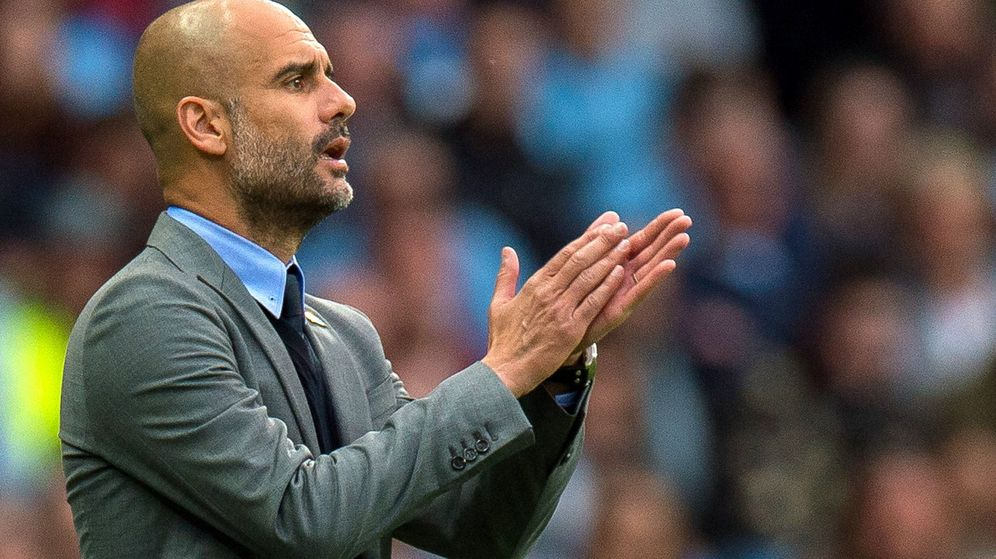 Foto: Pep Guardiola, durante un partido con el Manchester City. (Reuters)