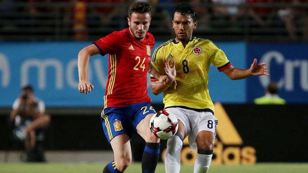 Foto: España se mantiene invicta aunque no pasó del empate (2-2) ante Colombia. (Mediaset)