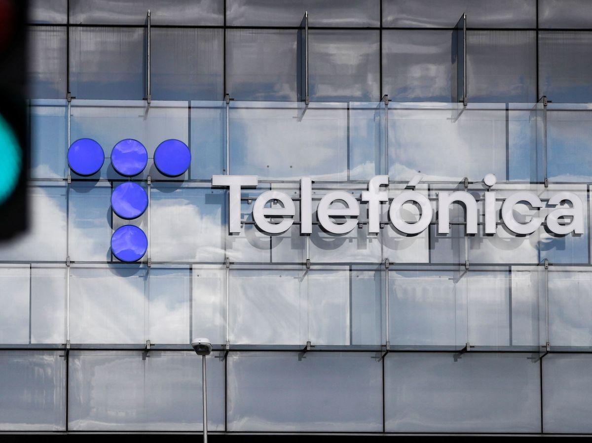 Foto: Logo de Telefónica (EFE)