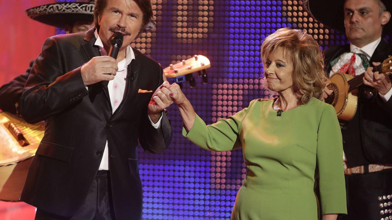 Edmundo Arrocet y María Teresa Campos en '¡Qué tiempo tan feliz!' (Telecinco)