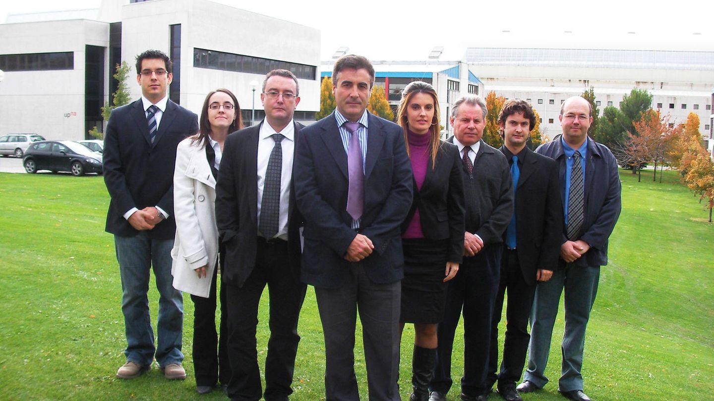 El equipo de trabajo de la universidad navarra, con Pedro Diéguez en el centro, responsable de estas transformaciones. (Fuente: UPNA)