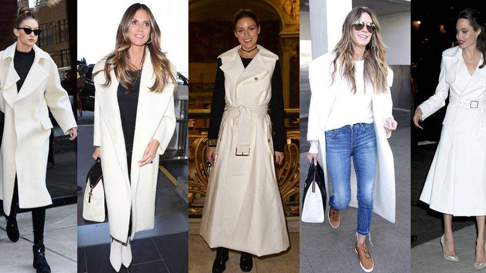 Un abrigo blanco, el último capricho trendy al que no te podrás resistir