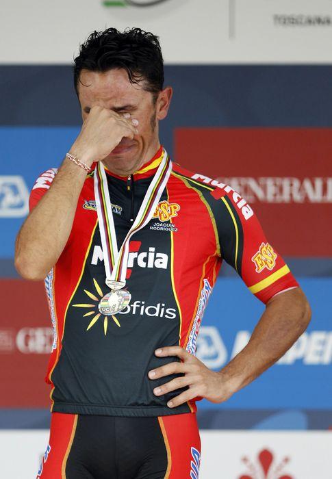 Foto: 'Purito', llorando en el podio de Florencia.