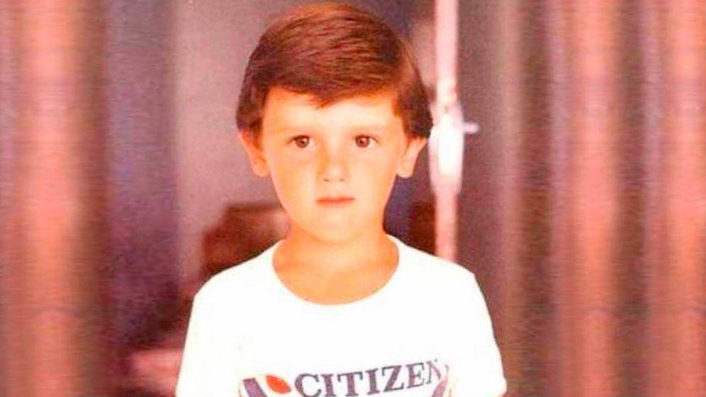 Foto: Albert Rivera, en una imagen de su infancia. (Redes)