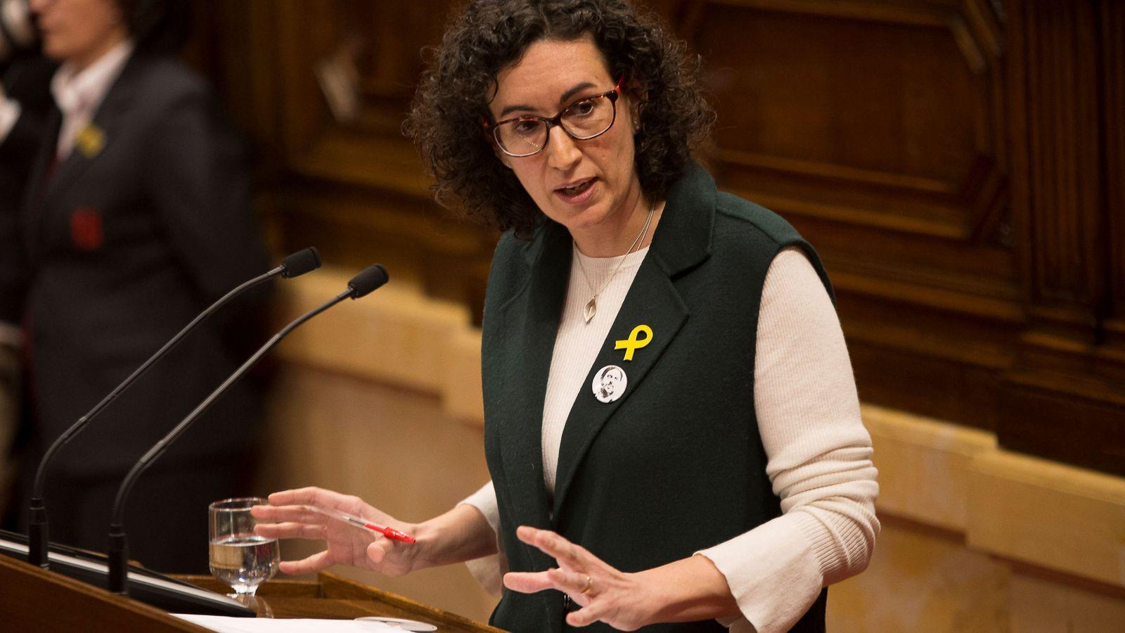 Foto: Marta Rovira (ERC) en el Parlament. (Reuters)