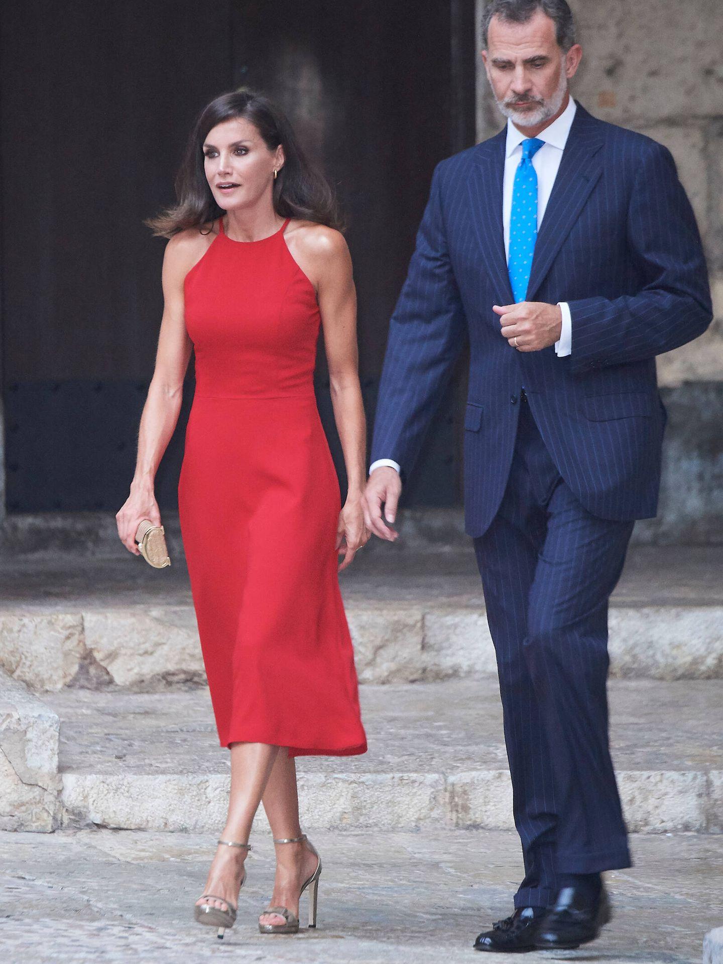 Los reyes Felipe y Letizia, en la Almudaina en 2019. (Limited Pictures)