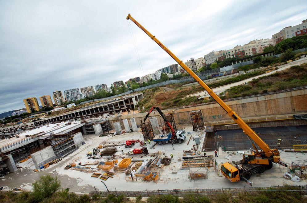 Foto: Obras en la estación del AVE La Sagrera.