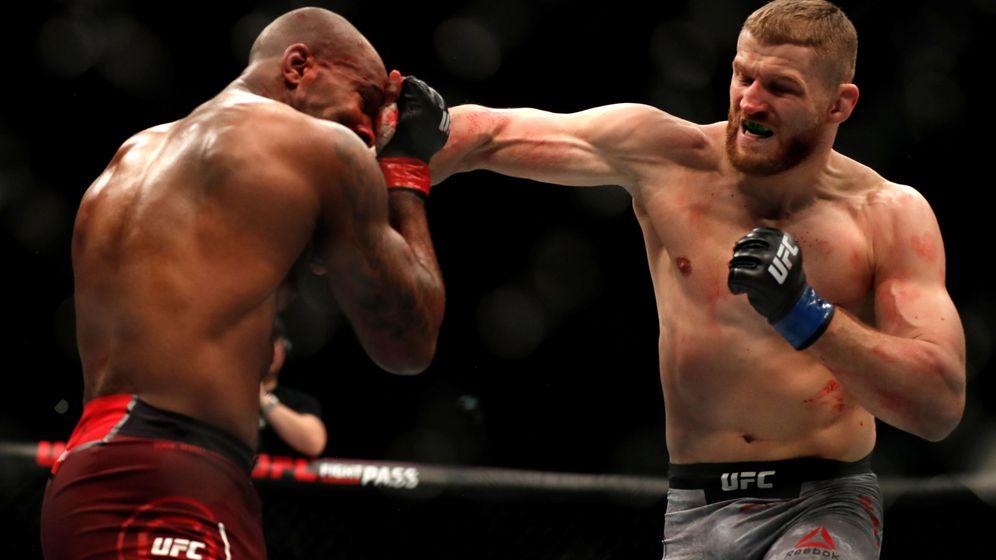 Foto: Jan Blachowicz en una pelea anterior (REUTERS).