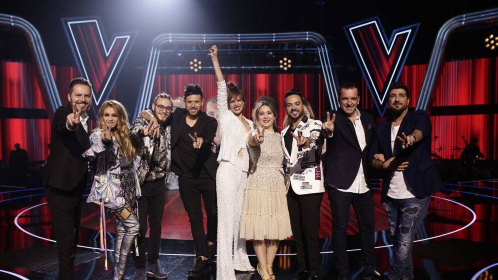 Foto: Todo el equipo de 'La Voz'... ¿Quién brilla más? (Antena 3)