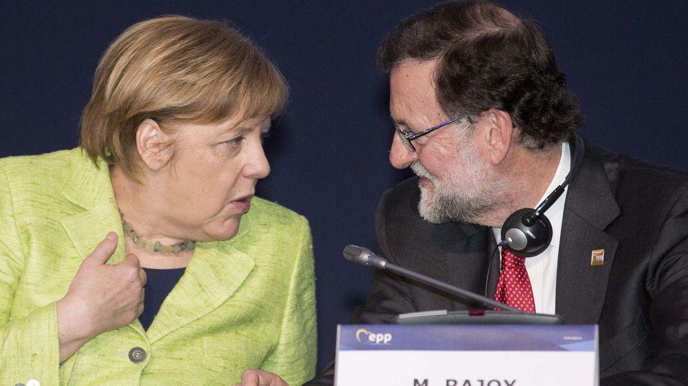 Foto: Angela Merkel y Mariano Rajoy. (EFE)