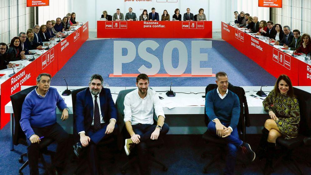 Foto: Reunión ejecutiva federal del PSOE. (EFE)