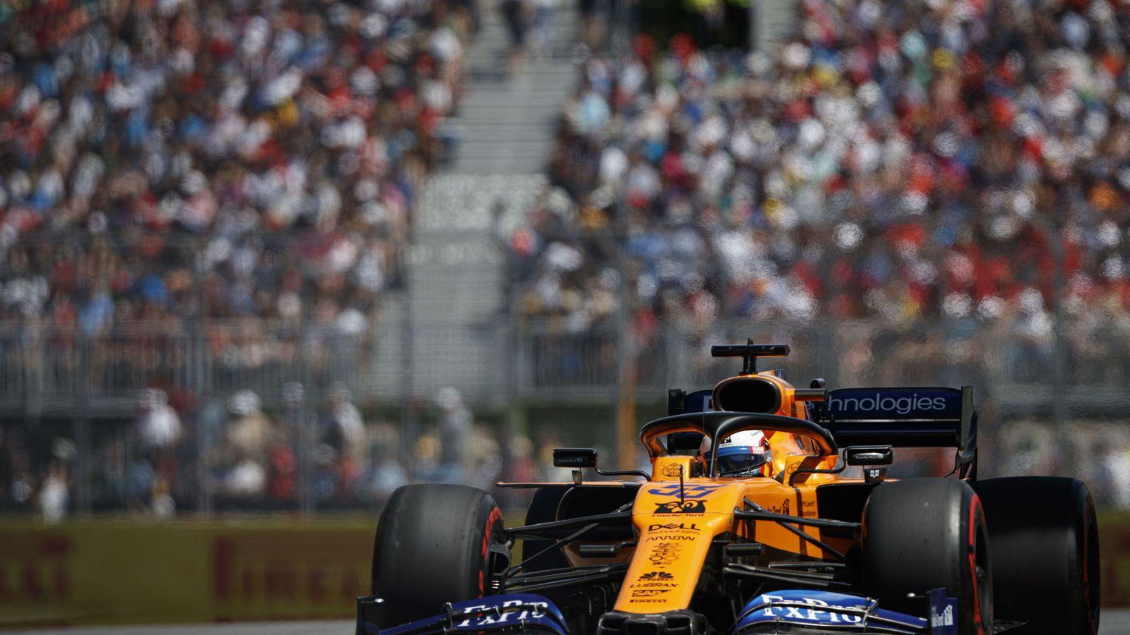 Foto: Carlos Sainz al volante del McLaren en Canadá. (EFE)