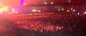 Foto: Tres de la mañana. Madrid Arena. El aforo aparentemente no está cubierto...