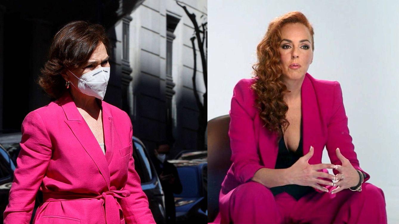 Carmen Calvo se pone el mismo traje de Rocío Carrasco para acompañar a Leonor
